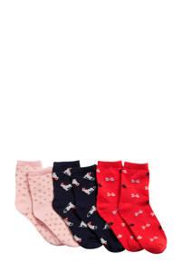 GAP sokken set van 3 paar, Rood/marine/roze
