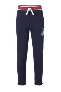 GAP   slim fit joggingbroek met printopdruk donkerblauw/rood/wit, Donkerblauw/rood/wit