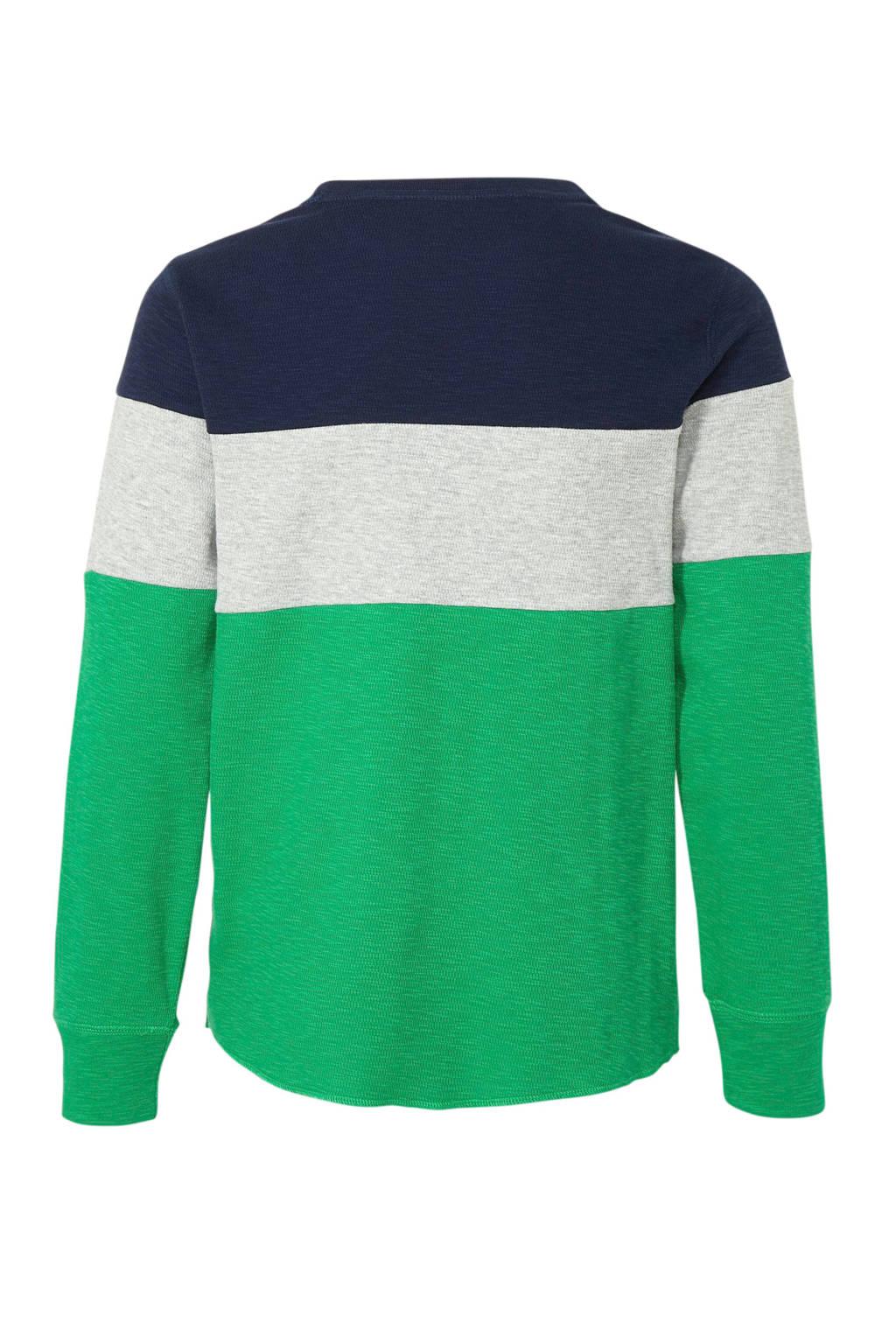 GAP gebreide longsleeve groen/grijs/donkerblauw, Groen/grijs/donkerblauw
