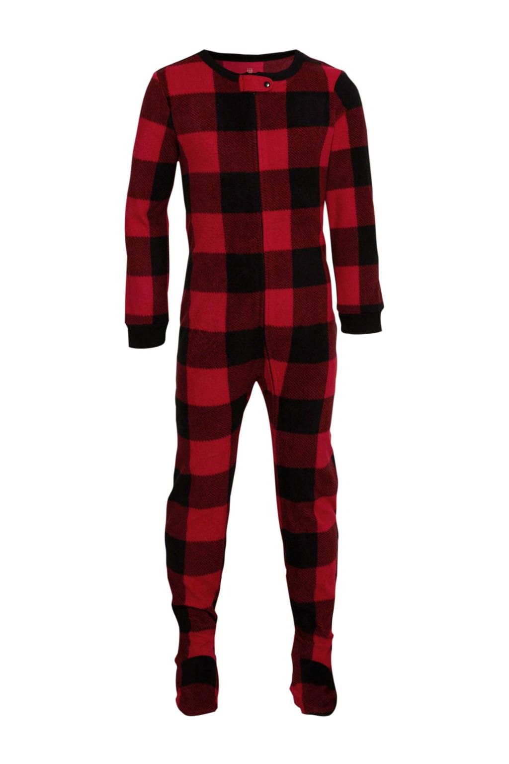 GAP   pyjama one piece rood/zwart, Rood/zwart