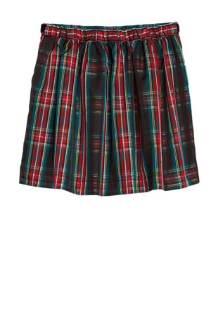 geruite rok groen/rood