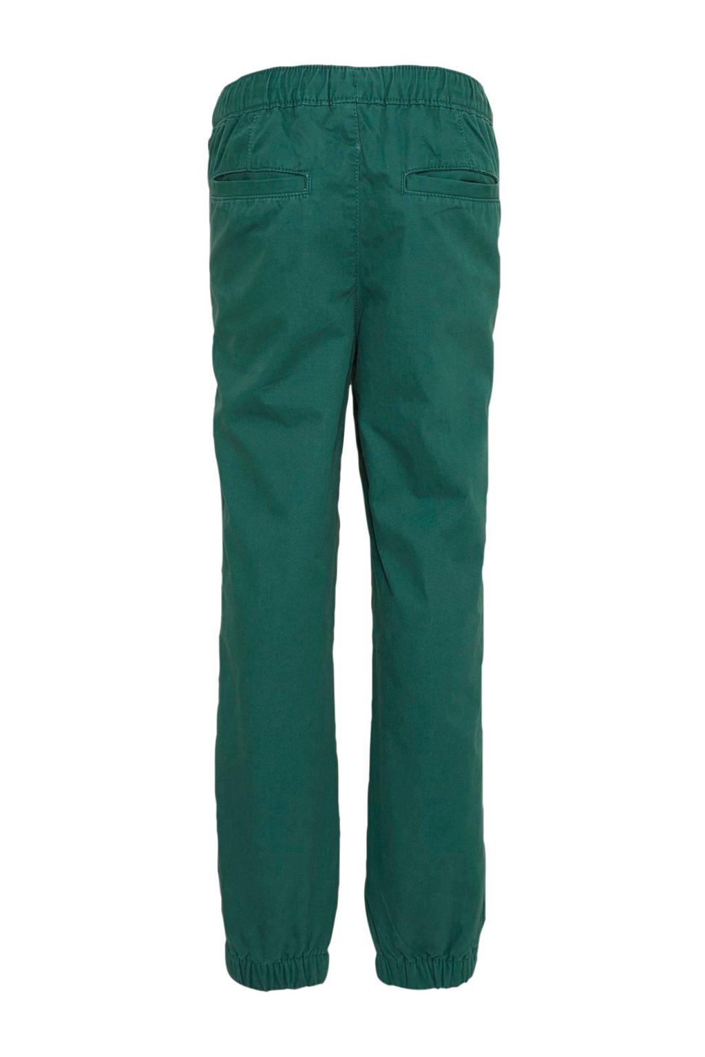 GAP regular fit broek donkergroen/grijs, Donkergroen/grijs