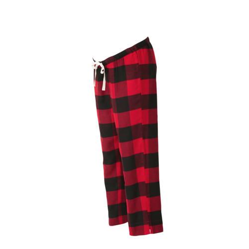 GAP geruite zwangerschaps pyjamabroek rood/zwart