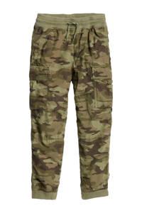 GAP loose fit broek met camouflageprint groen, Groen