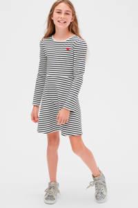 GAP gestreepte jersey jurk wit/zwart/rood, Wit/zwart/rood