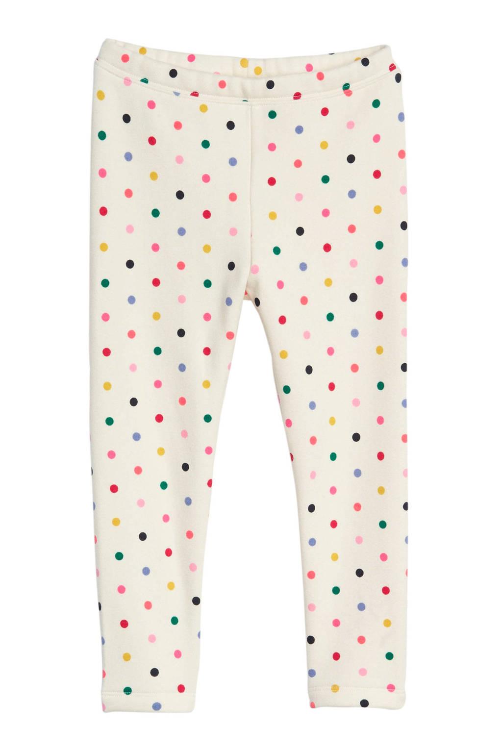 GAP legging met multicolor stipdessin ecru, Ecru/multi
