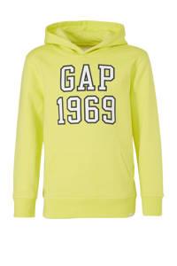 GAP hoodie met logo geel/wit/zwart, Geel/wit/zwart