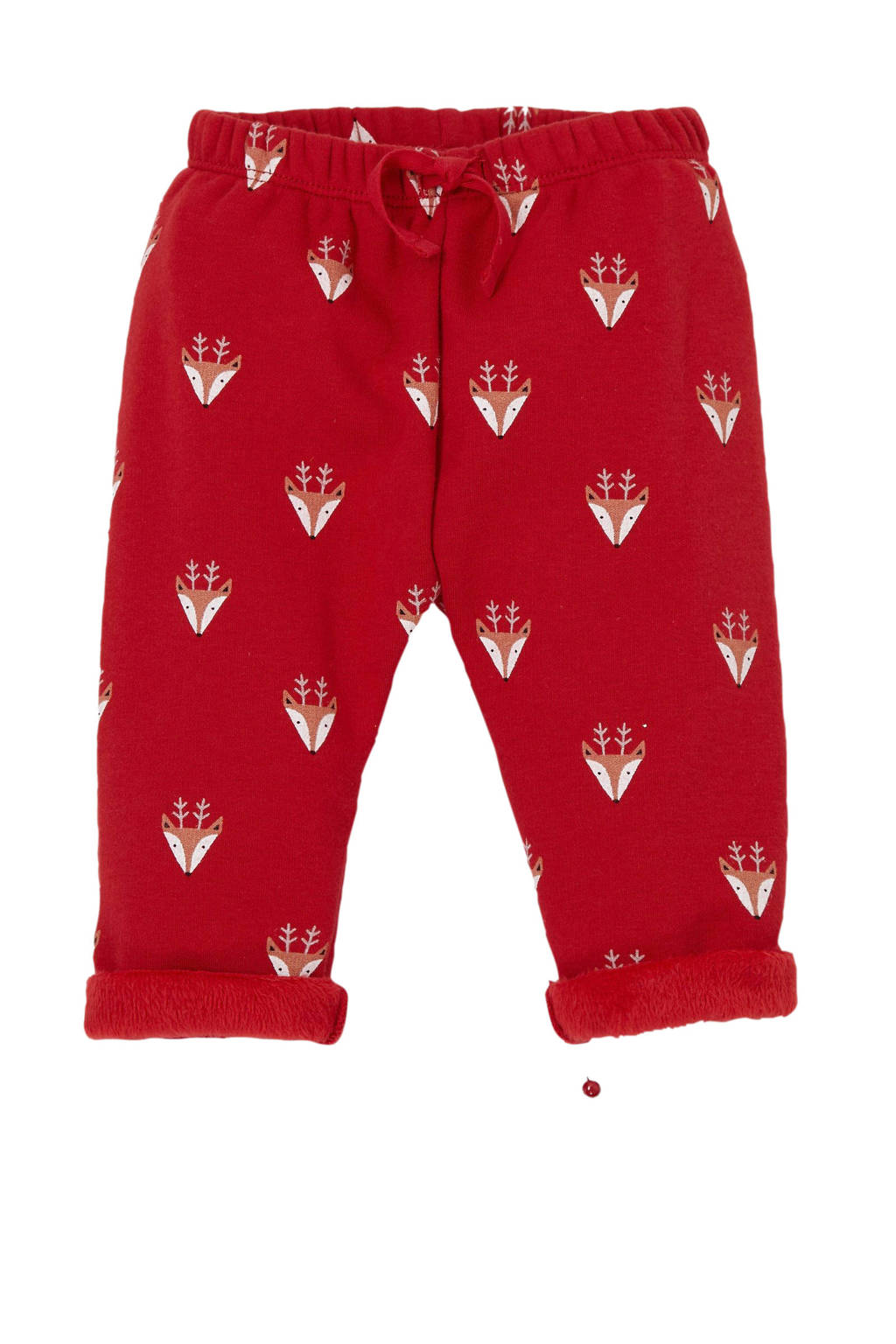 GAP baby kerstbroek met all over print rood, Rood