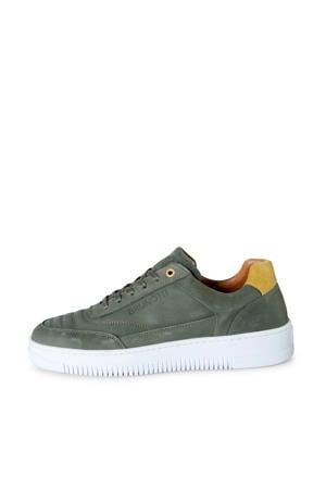 Arugam  leren sneakers olijfgroen