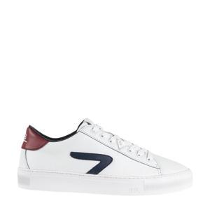 HOOK CS Z-STITCH  leren sneakers wit/blauw/rood
