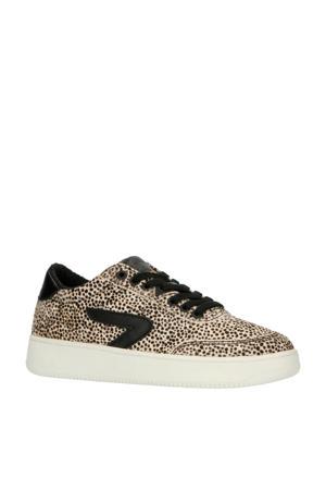 Hub Baseline-W L59 leren sneakers cheetahprint/zwart
