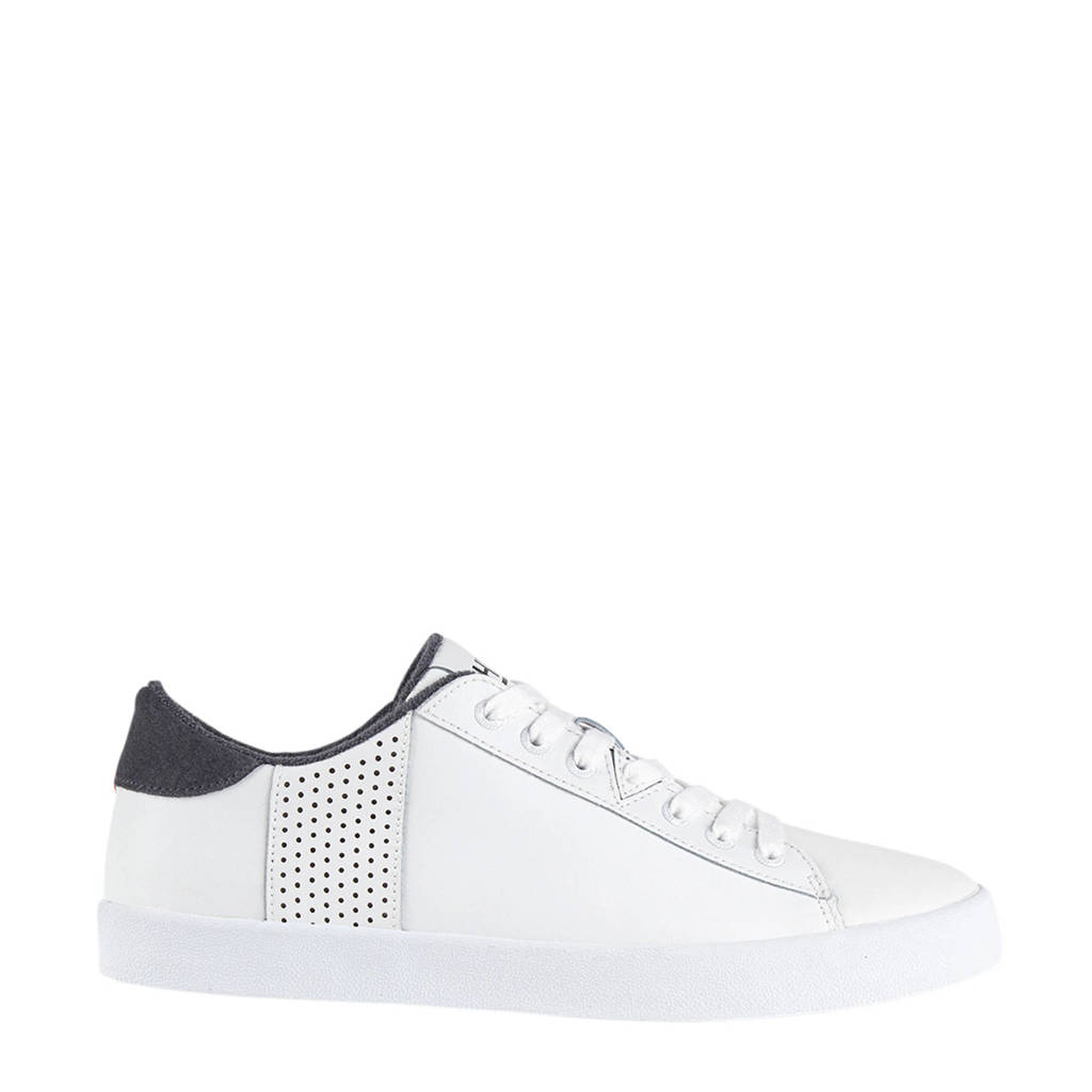 Hub Hook-R  leren sneakers wit/grijsblauw, Wit/grijsblauw