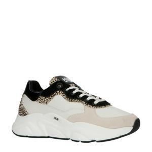 Hub Rock L59 leren chunky sneakers beige/cheetahprint