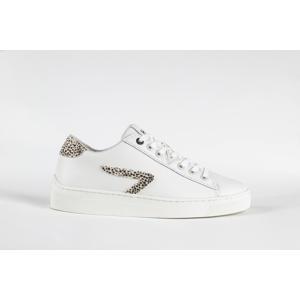 HOOK LW Z-STITCH L31 leren sneakers wit/cheetahprint