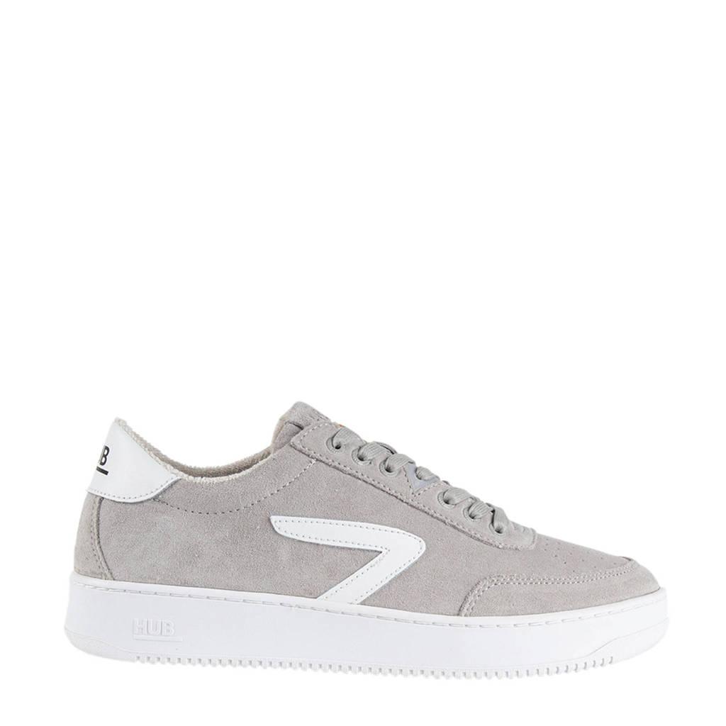 Hub Baseline-M  suède sneakers grijs/wit, Grijs/wit