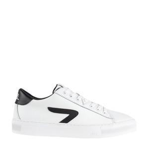 HOOK CS Z-STITCH  leren sneakers wit/zwart
