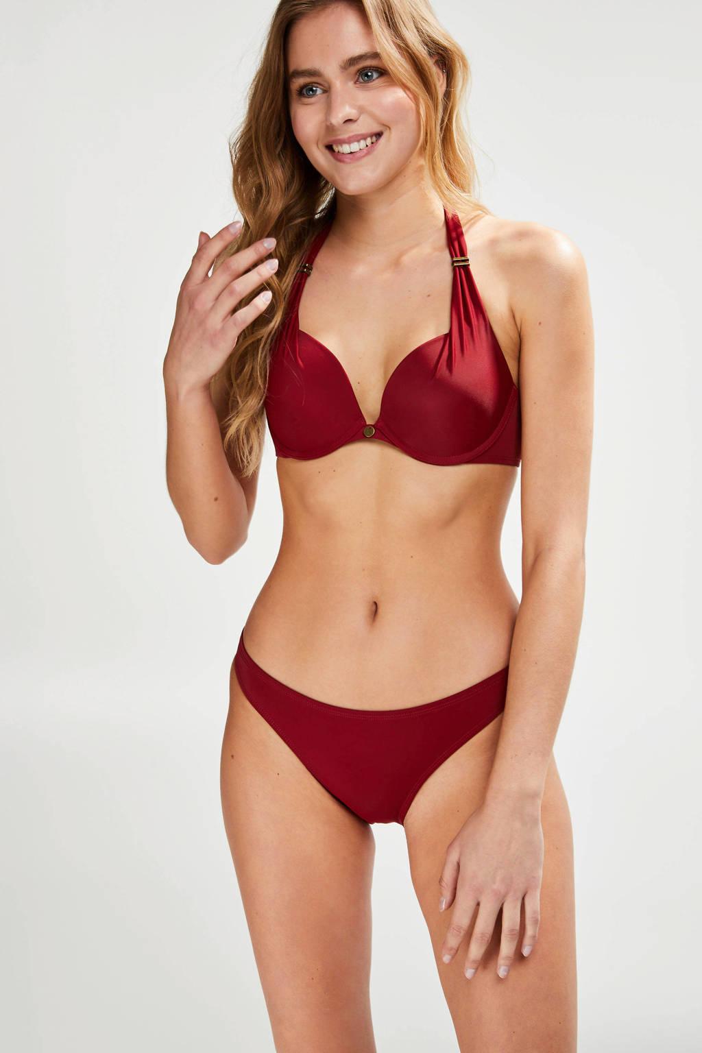 Hunkemöller bikinibroekje Sunset Dream rood, Rood