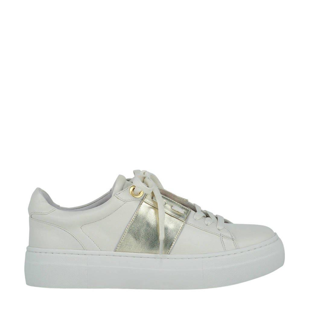 JOSH V JV Leslie  leren sneakers ecru/goud, Ecru/goud