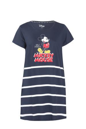 nachthemd met printopdruk marine