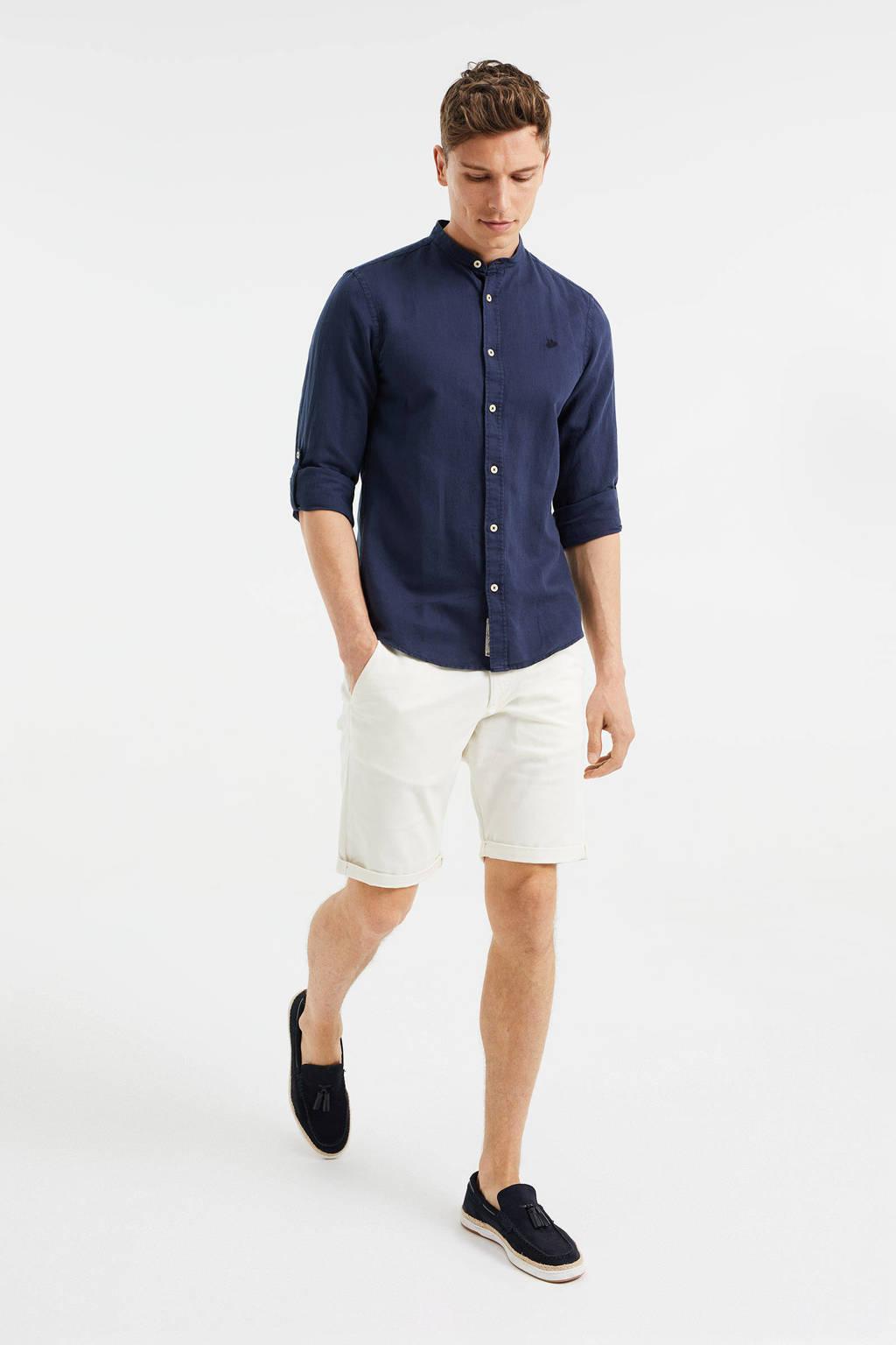 WE Fashion slim fit bermuda wit, New Ivory
