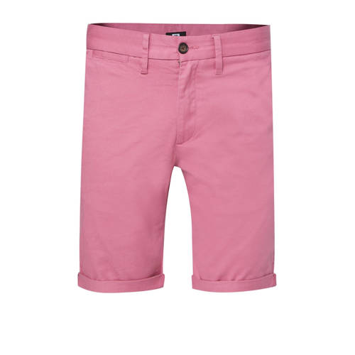 WE Fashion slim fit bermuda roze