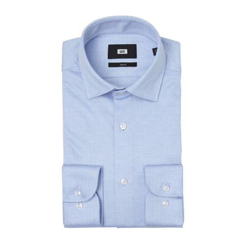 WE Fashion slim fit overhemd light blue