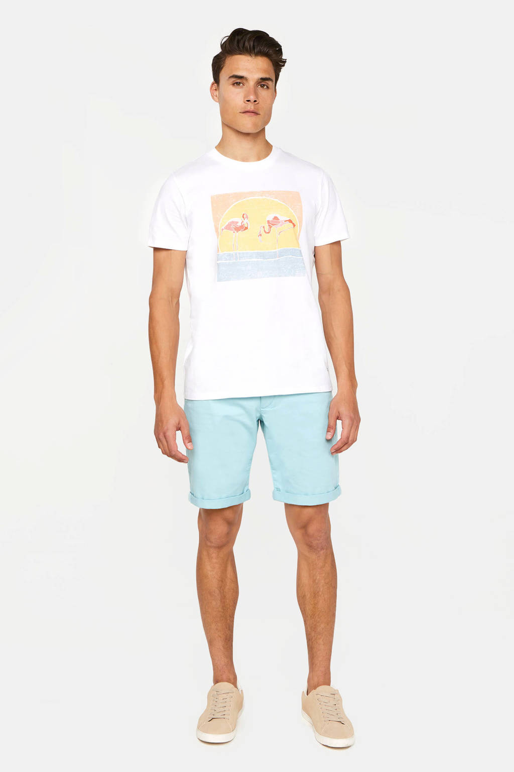 WE Fashion straight fit bermuda aquatic, Aquatic