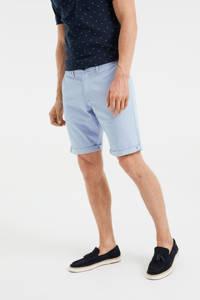 WE Fashion Fundamentals slim fit chino short lichtblauw, Lichtblauw