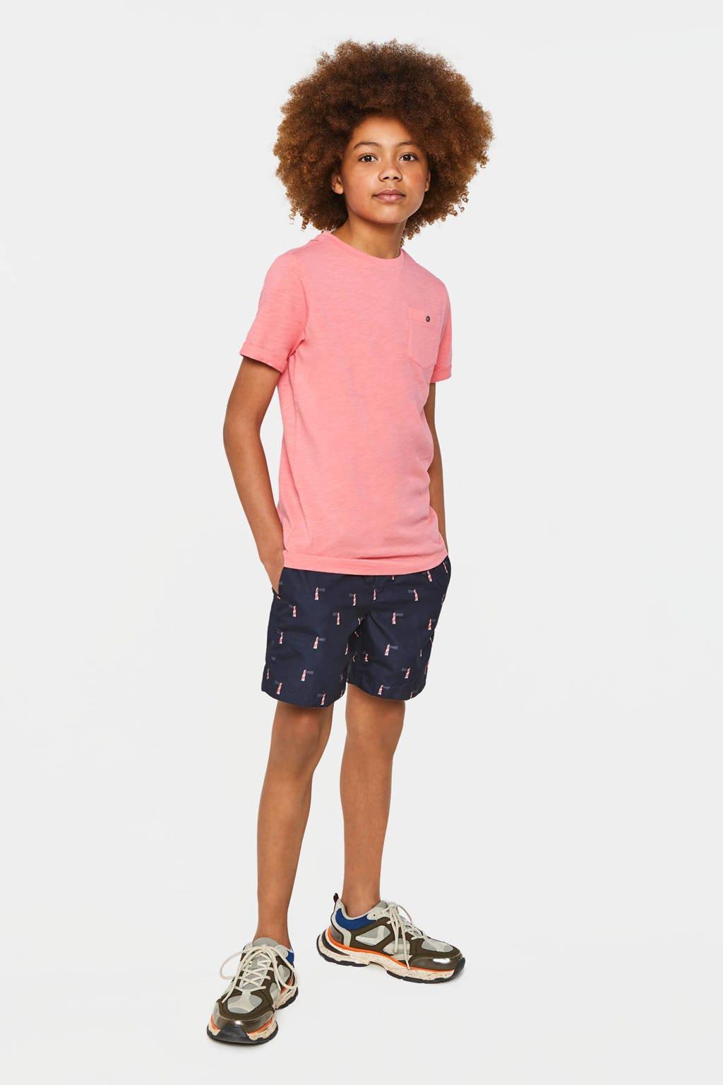 WE Fashion Fundamental T-shirt roze, Roze