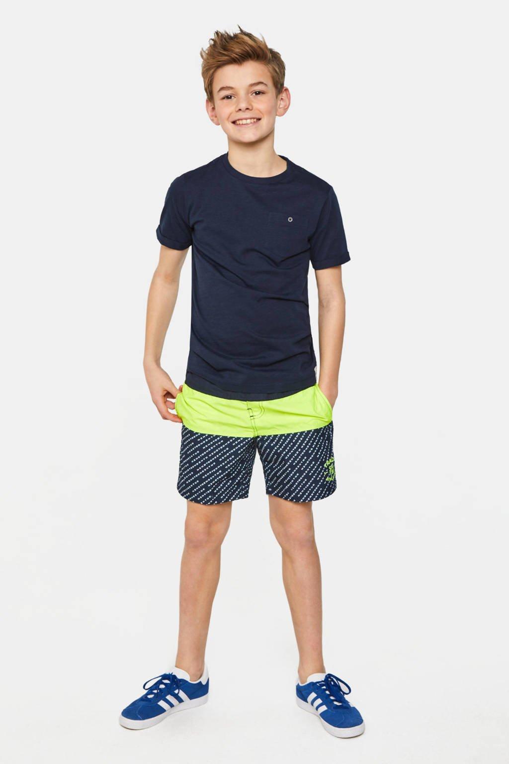 WE Fashion Fundamental T-shirt donkerblauw, Donkerblauw