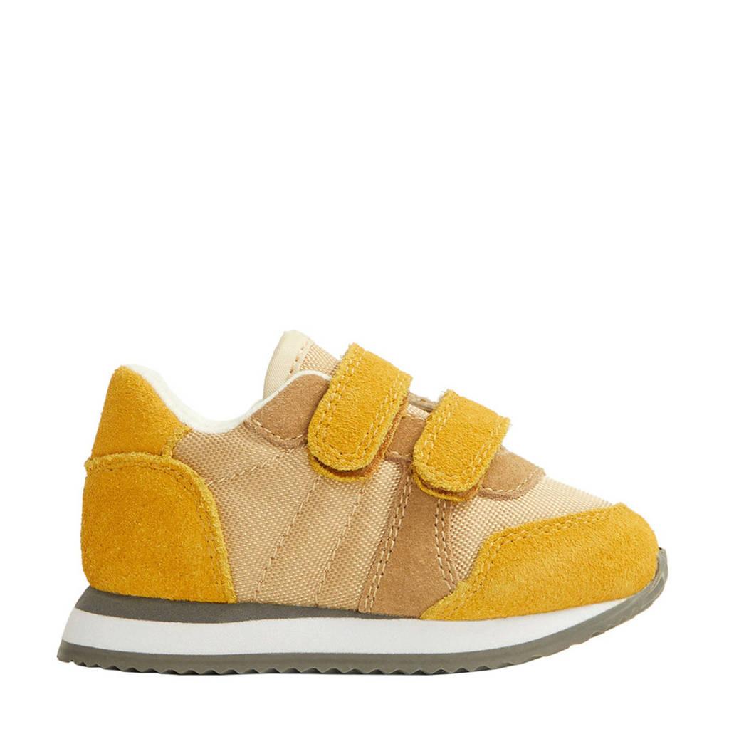 Mango Kids   suède sneakers okergeel, Okergeel