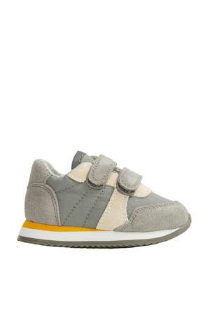 suède sneakers grijs/beige