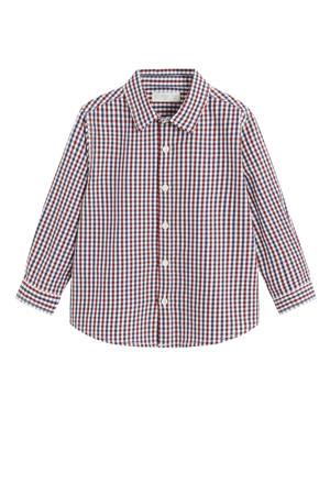 geruit overhemd rood/donkerblauw/wit