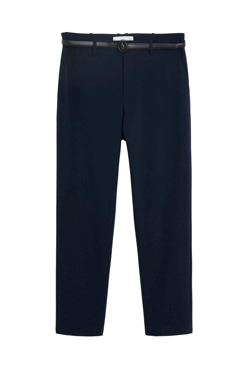 Mango slim fit pantalon donkerblauw, Donkerblauw