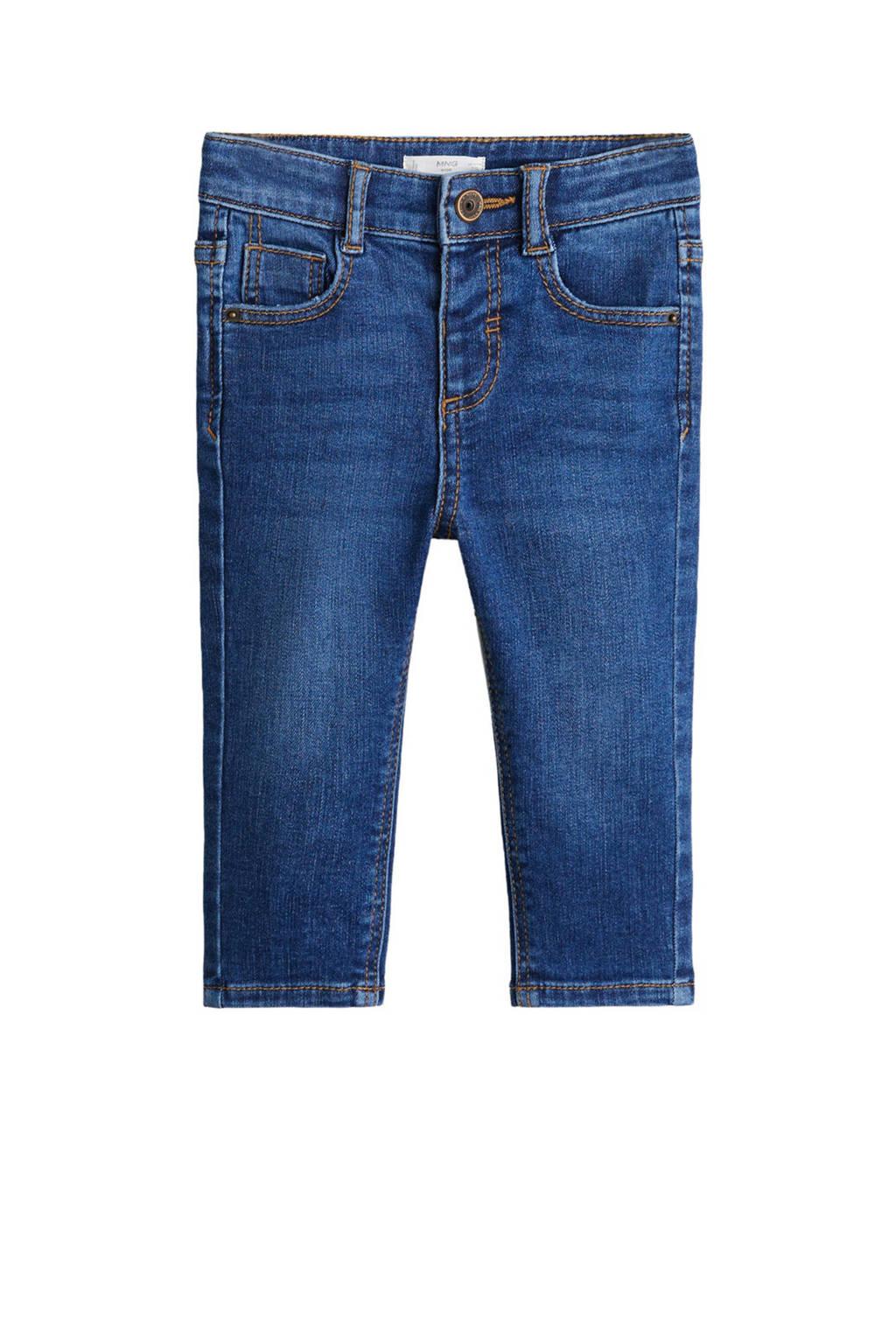 Mango Kids skinny jeans Diego donkerblauw, Donkerblauw
