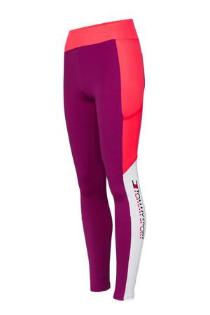 legging paars/roze/wit