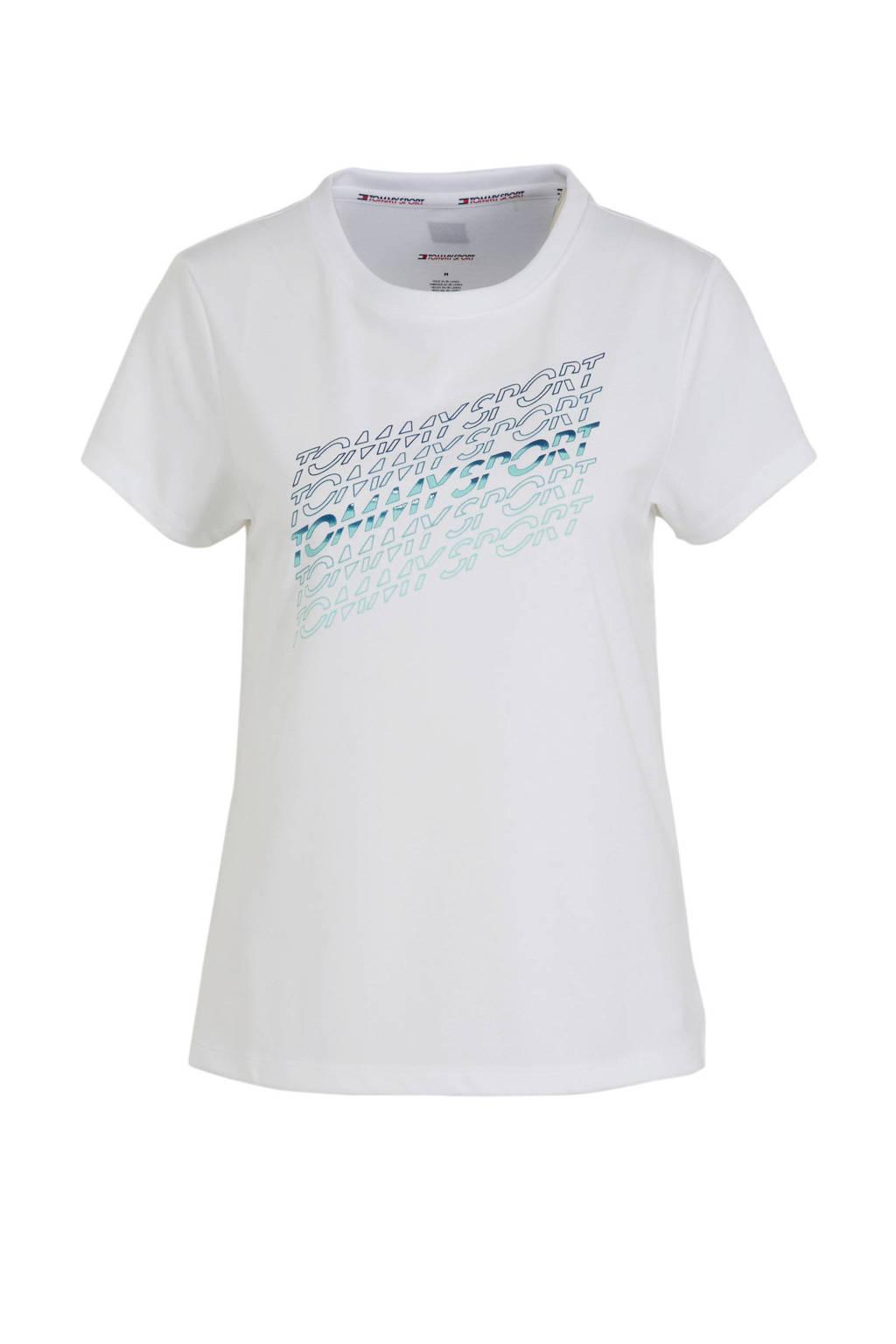Tommy Hilfiger Sport T-shirt wit, Wit