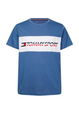 T-shirt blauw/wit