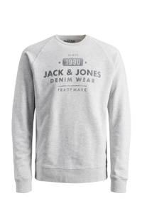 JACK & JONES JUNIOR sweater Jeans met printopdruk lichtgrijs/grijs, Lichtgrijs/grijs