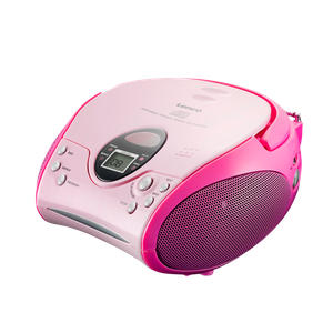 SCD-24 draagbare radio/CD speler roze
