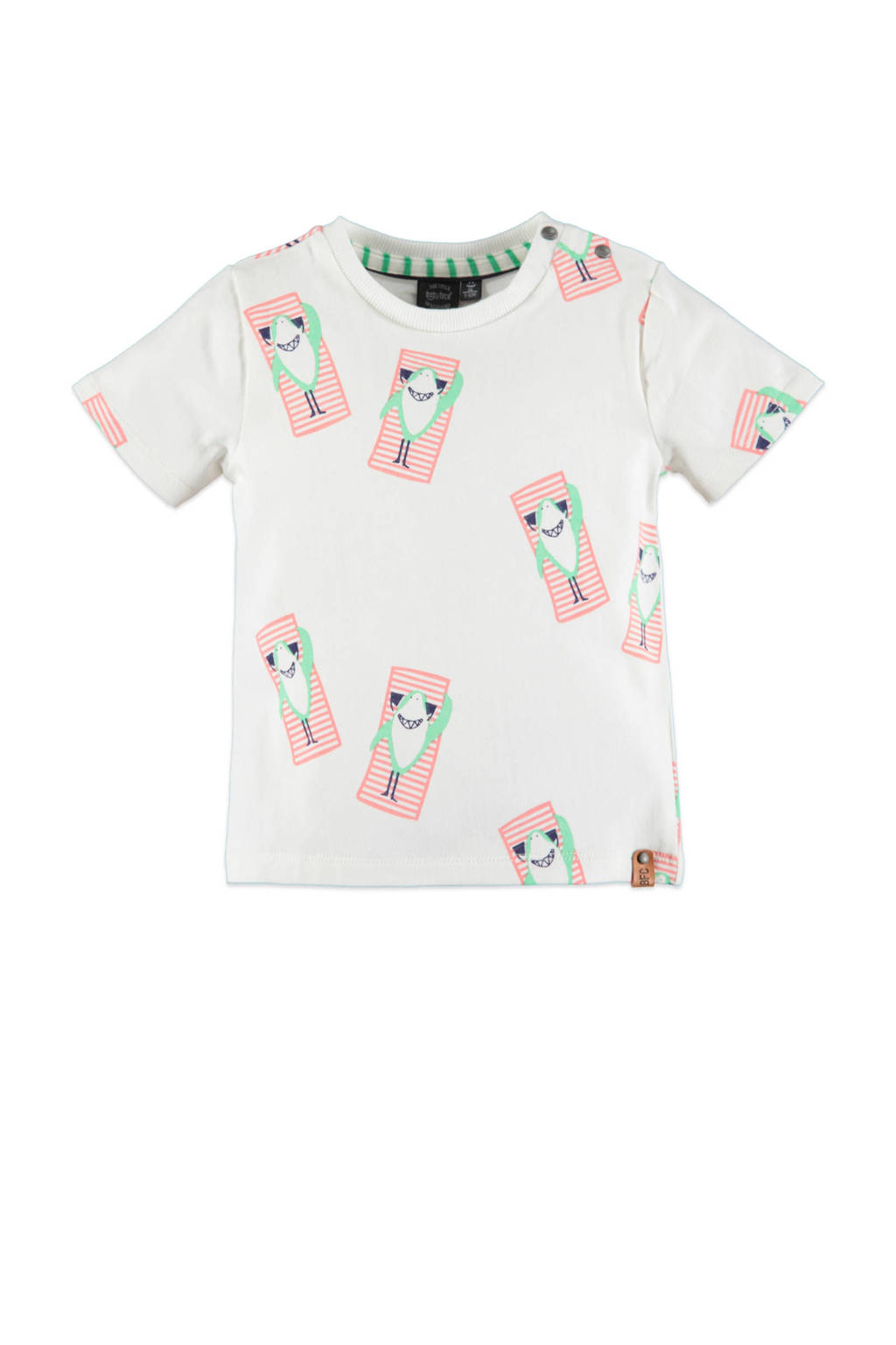 Babyface T-shirt met all over print wit, Wit