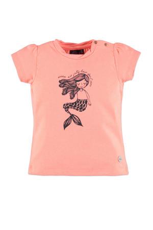 T-shirt met printopdruk roze