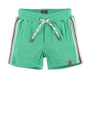 short met zijstreep groen