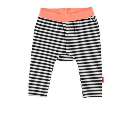 B.E.S.S baby gestreepte broek zwart/wit/oranje