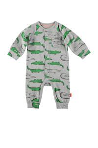 B.E.S.S baby boxpak met all over print grijs/groen, Grijs/groen