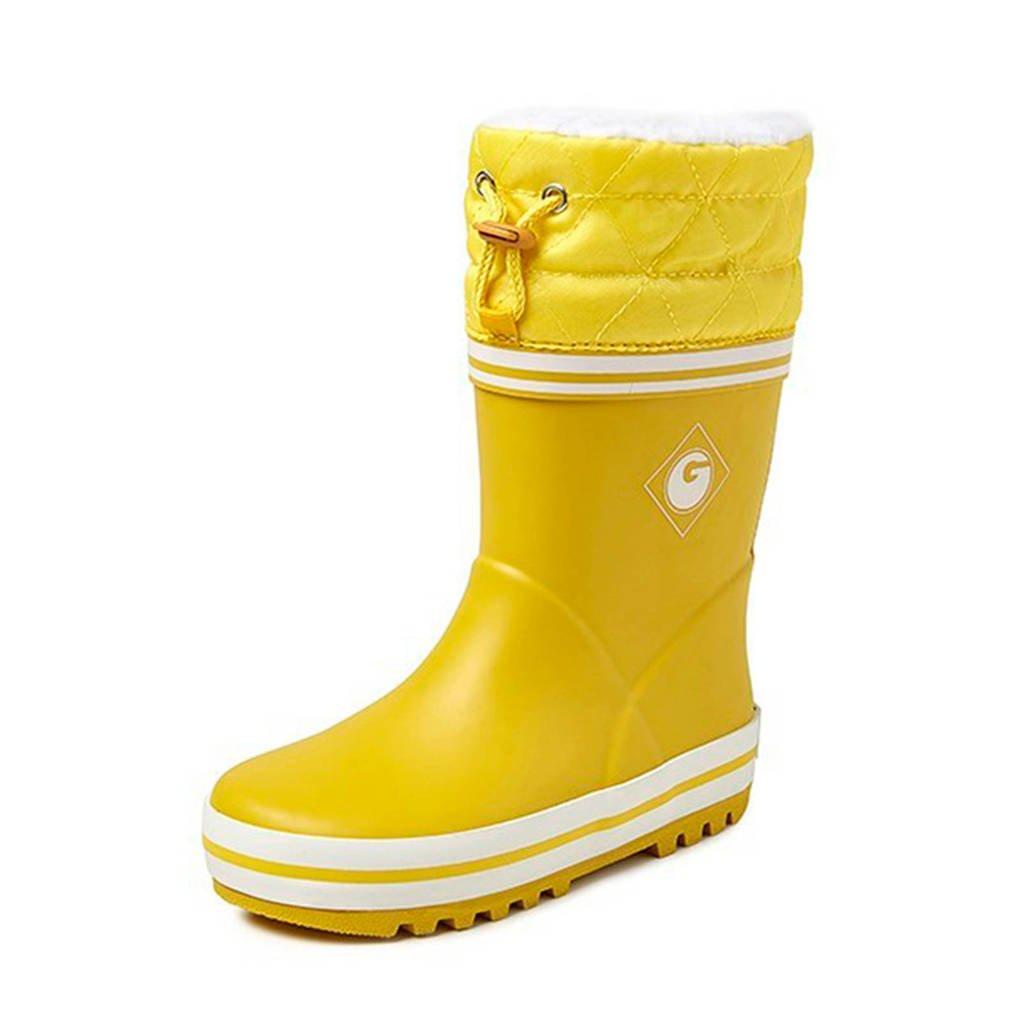 Gevavi   regenlaarzen geel kids, Geel