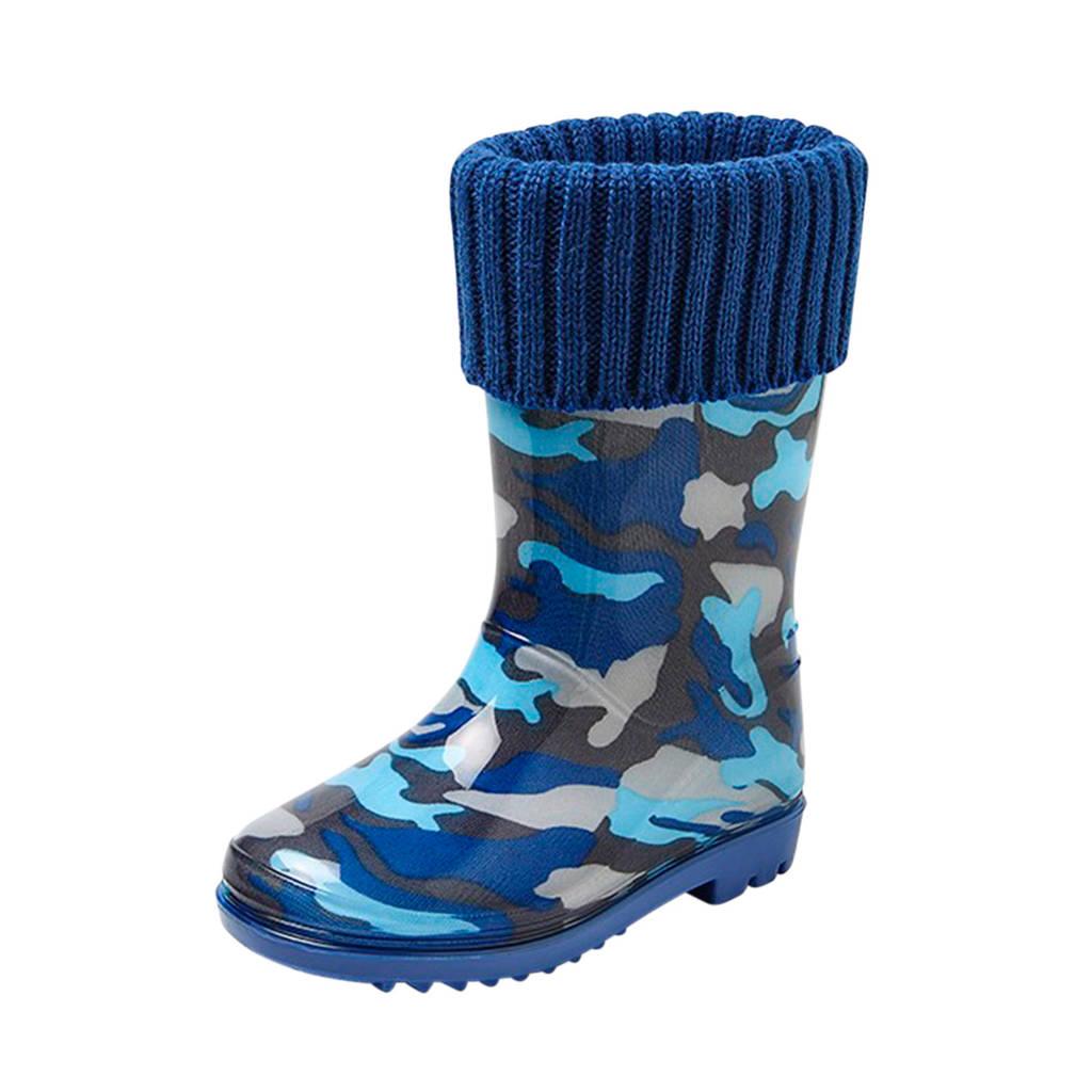Gevavi   regenlaarzen camouflage blauw, Blauw