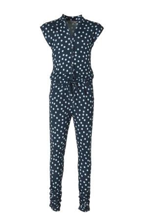 jumpsuit met stippen donkerblauw/lichtblauw