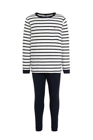 pyjama gestreept off white/marine
