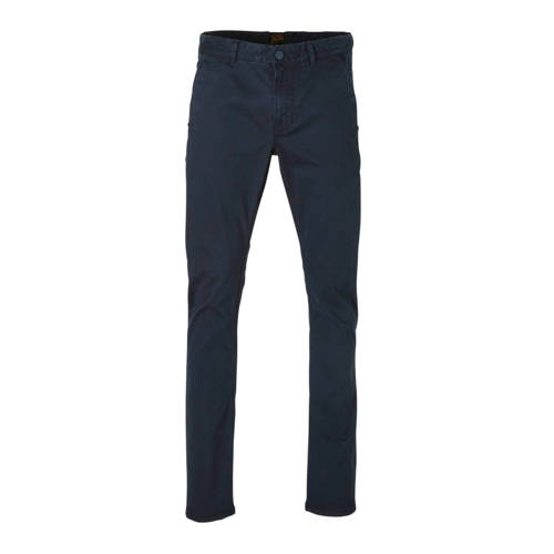 PME Legend slim fit chino met all over print donke